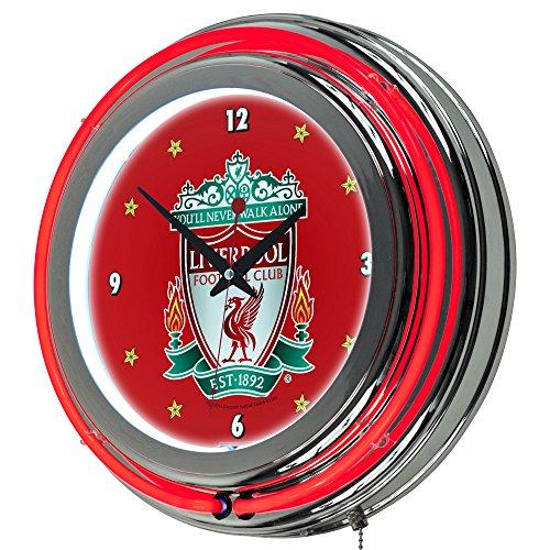 (Trademark Gameroom Premier League Liverpool Football Club Chrome Double Rung Neon Clock)