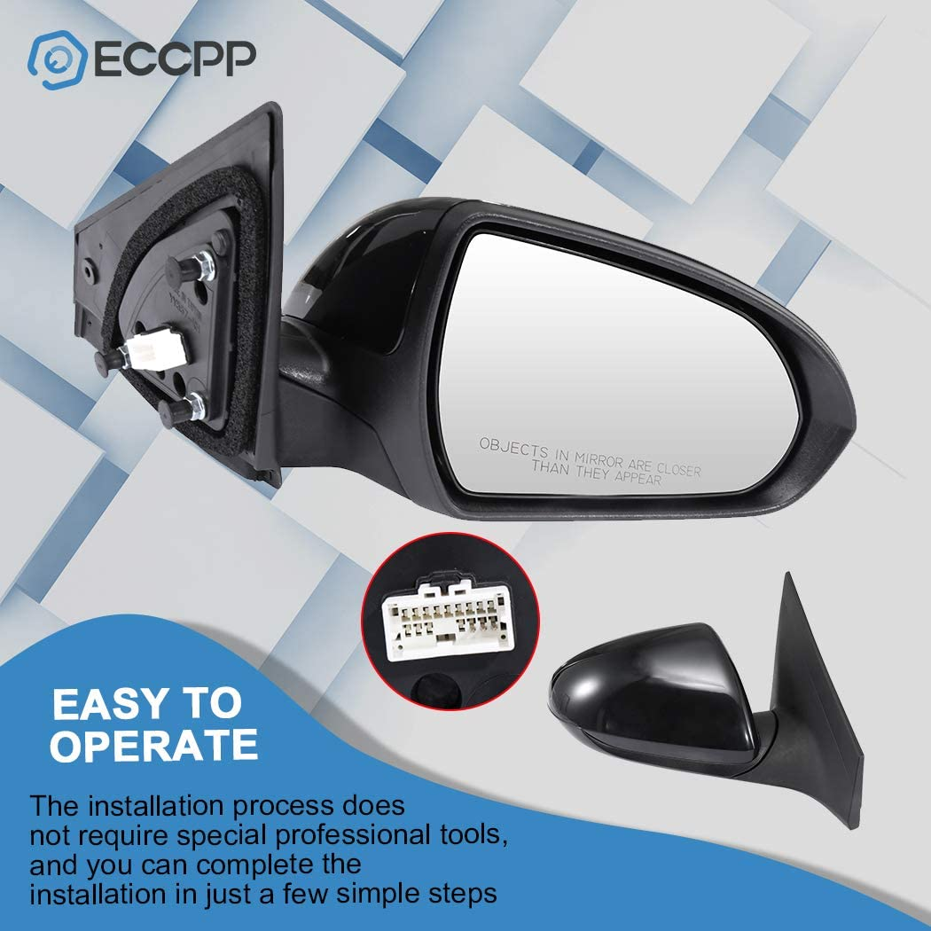 Right Side Rear View Mirrors Power Adjustment Manual Folding Blind Spot Door Mirror Replacement fit for 2017 2018 Hyundai Elantra ECCPP Passenger Side Mirrors