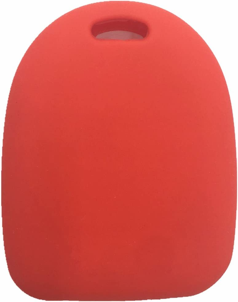Ezzy Auto Red Silicone Rubber Key Fob Case Key Cover Key Jacket Skin Protector fit for 2004-2006 Pontiac GTO