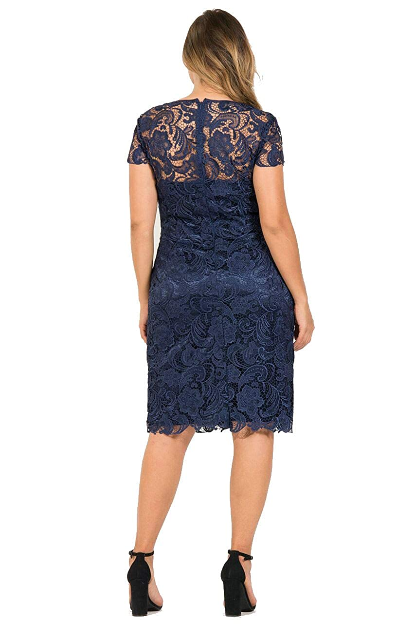 798cdc28dfa The Dress Outlet Mother of The Bride Lace Plus Size Short Dress at Amazon  Women s Clothing store