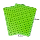 "Enlighten 2-Pack Apple Green 7.5""x10"" Classic Briks Baseplate Compatible with Duplo Building Block Plate 12x16 Big Dots"