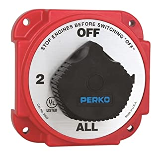 Perko 8603DP Heavy Duty Battery Selector Switch with Alternator Field Disconnect Northern Wholesale Supply Inc (Boating)