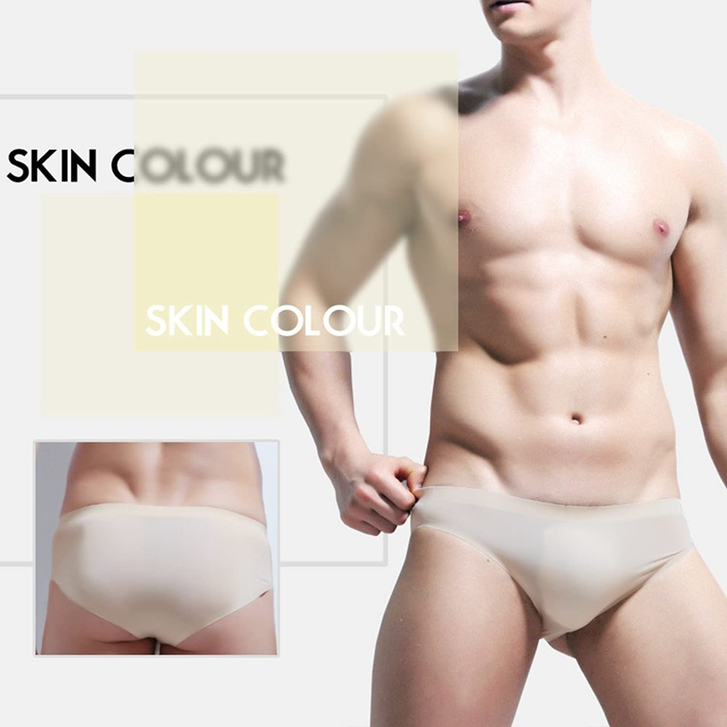 Zhuhaitf Calzoncillos Suaves Briefs Ropa interior para Hombre Boys Soft Breathable Comfortable Lightweight No trace Thin Low Rise Ice Silk… LIkks0