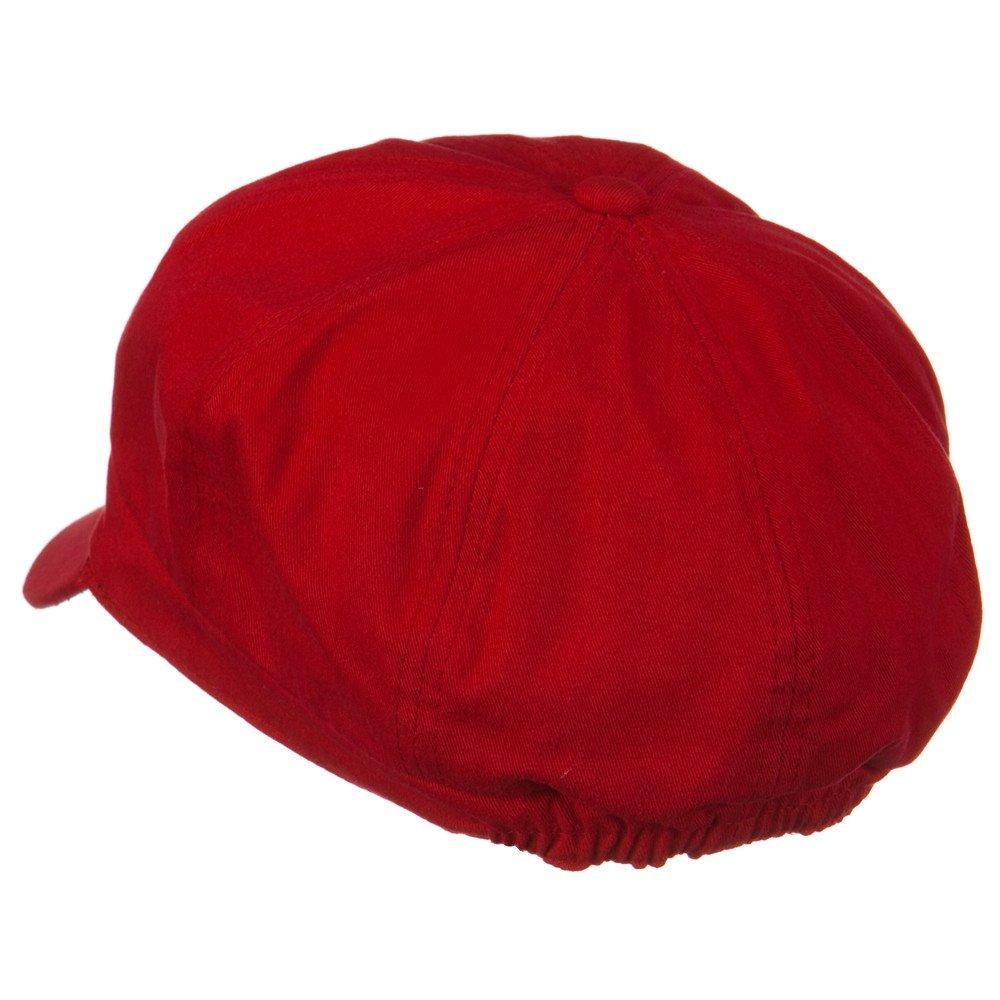 Amazon.com  Cotton Elastic Newsboy Cap - Red M L  Clothing 382567c26008