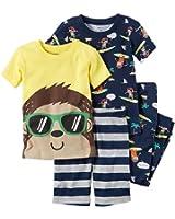 Carter's Baby Boys 4-Piece Monkey Pajamas Set
