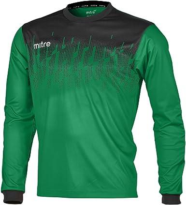 Mitre Hombres del Comando de Portero de fútbol Match Day Camiseta ...