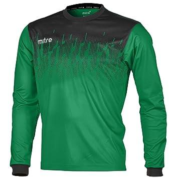 Mitre Command Goalkeeper Camiseta de Fútbol, Unisex Adulto, Esmeralda/Negro / Blanco,