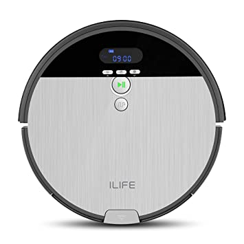 ILIFE V8s Robot Vacuum Cleaner and Mop Combo, XL 750ml Dustbin, Ideal for  Pet Hair & Hard Floors,Self-Adjustable Suction Port, Tangle-Free Design,