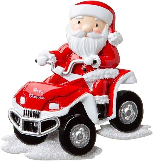 4 Wheeler ATV Personalized Christmas Tree Ornament