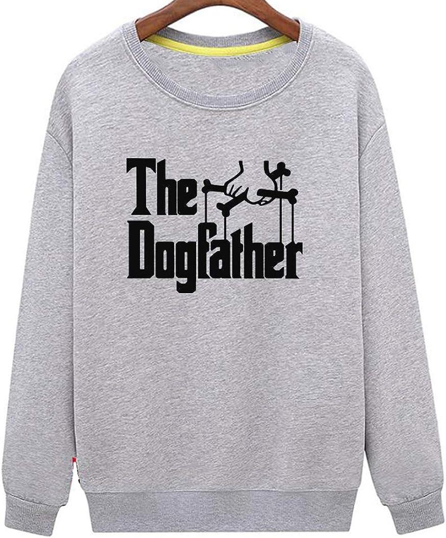 Mens Dog Dad Dog Lovers Novelty Cool Sweatshirt