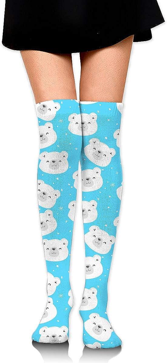 Womens//Girls Polar Bear Casual Socks Yoga Socks Over The Knee High Socks 23.6