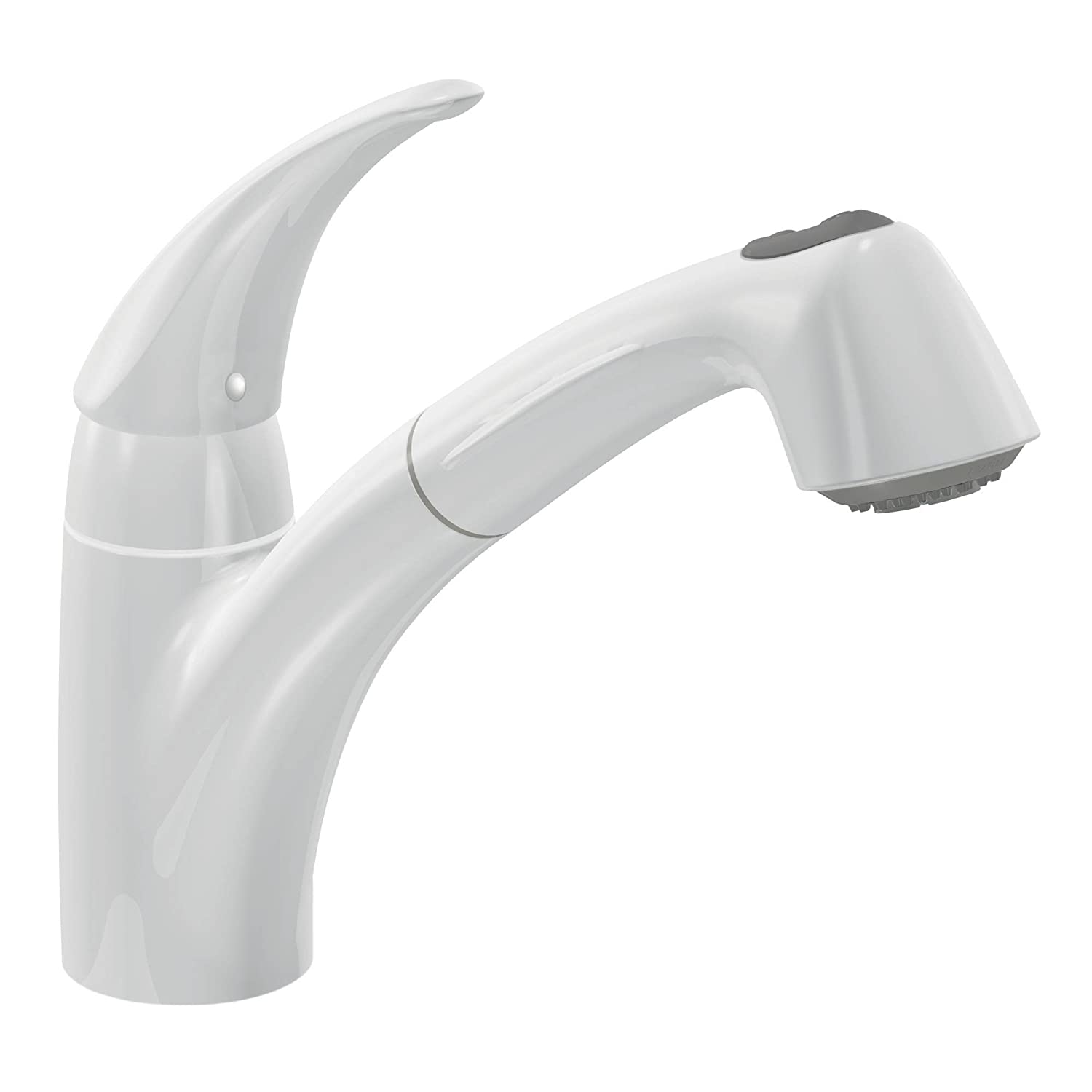 Moen 7560V Extensa One-Handle Low Arc Pullout Kitchen Faucet, Ivory ...