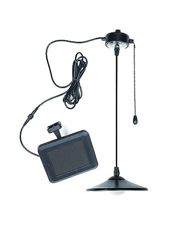 MMLIGHT Lámpara Panel Luz Solar 4 LEDs de Techo Exterior Interior Lámpara Colgante con Mando Portátil