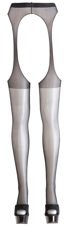 Sexstrumpfhose mit offenem Schritt und Po Schwarz S/M L/XL Cottelli Collection Grö ß e S/M