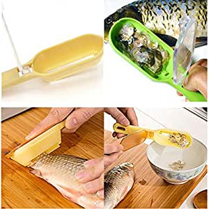 Kitchen Tools & Gadgets Hot Fish Scale Remover Scaler Scraper Cleaner Kitchen Tool Peeler