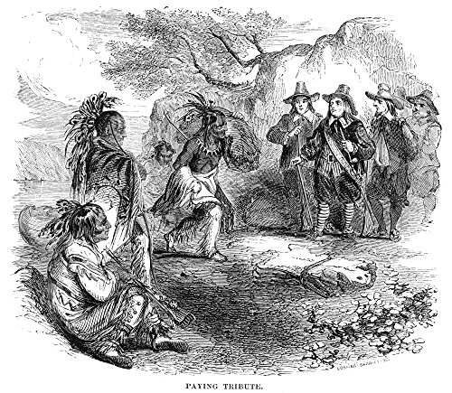 - Dutch-Native American Fur Trade Ndutch Colonists Trading With Native Americans Along The Hudson River Wood Engraving American 19Th Century Poster Print by (18 x 24)