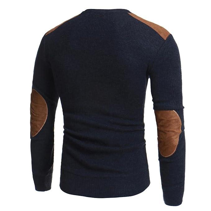 Suéteres de hombres Amlaiworld Hombre otoño invierno jersey Tops Blusa: Amazon.es: Ropa y accesorios