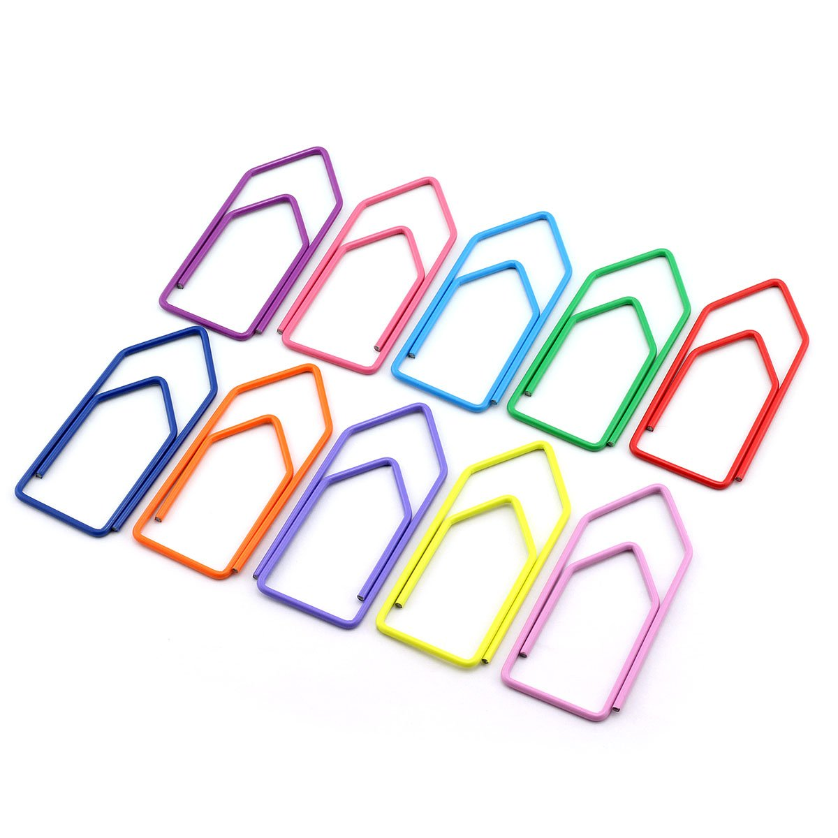RuiLing 30-Pack Paper Clips,Multicolor Creative Shape 2.7 inch Length Great for Paper Clip Collectors Bookmark Document Holder Office School