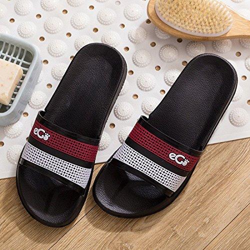 HUAIDE Unisex Slipper Flat Shower Slip Sandals Bath Open Toe Slide Non 10 rTOErBq