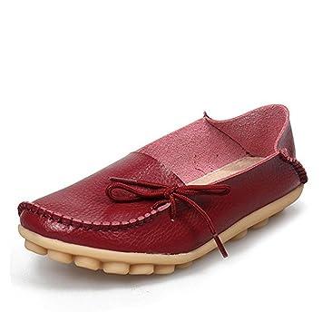 Cosstars Damen Casual Slipper Flatschuhe Low-top Schuhe Erbsenschuhe