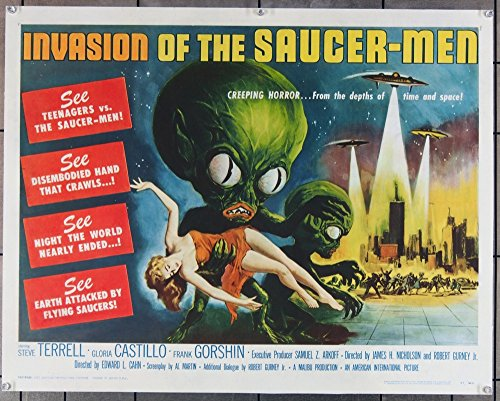 Invasion Of The Saucer-Men Half-Sheet Movie Poster