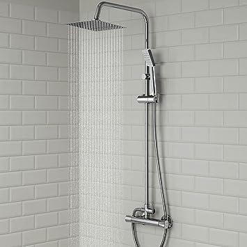 Tamburo columna de ducha conjunto cuadrado grifo termostático ...