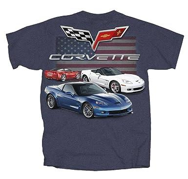 28022ca52 Amazon.com: Joe Blow Chevy Corvette C6 Flag T-Shirt: Clothing
