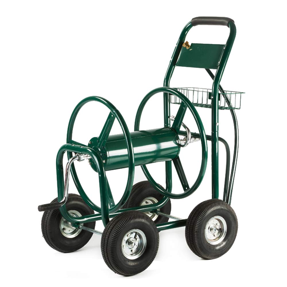 XtremepowerUS Garden Water Hose Reel Cart 300 FT Outdoor Heavy Duty Yard Water Planting by XtremepowerUS