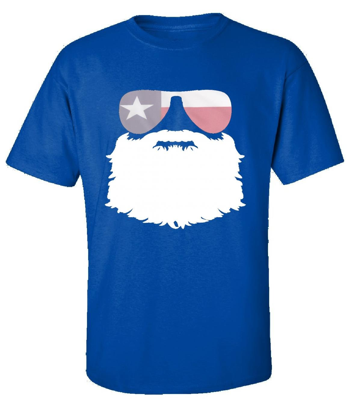 November Beard Mustache Month Texas With Sunglasses - Adult Shirt S Royal