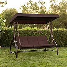 Best ChoiceProducts Converting Outdoor Swing Canopy Hammock Seats 3 Patio Deck Furniture