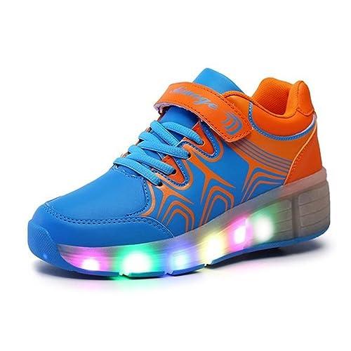 ueso Junior Niñas Niños Jazzy - Luz LED de la rueda Heelys para patines zapatos zapatillas con ruedas: Amazon.es: Zapatos y complementos