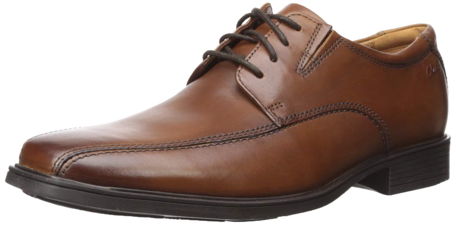 CLARKS Men's Tilden Walk Oxford, Dark Tan Leather, 12 M US