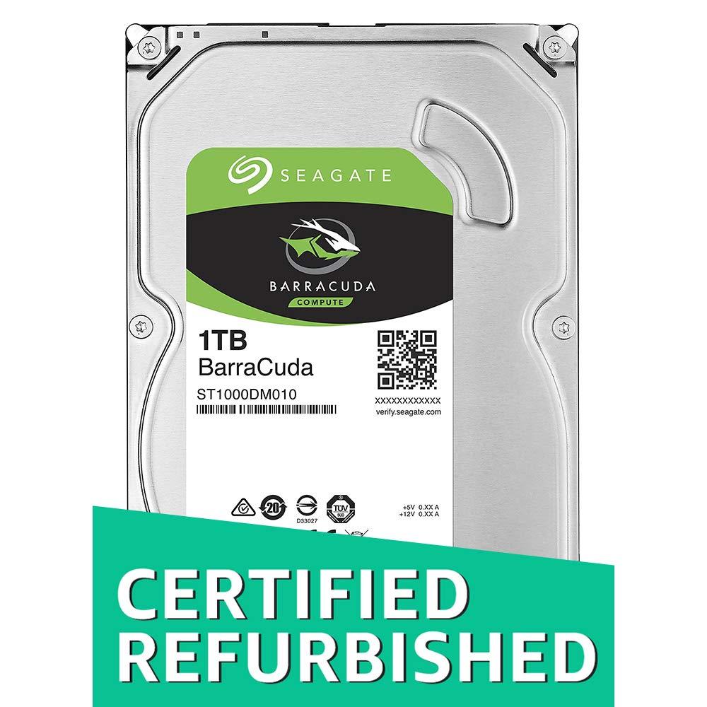 CERTIFIED REFURBISHED) Seagate New BarraCuda ST1000DM010 1TB 64MB Cache SATA 6.0Gb/s 3.5″ Hard Drive Bare Desktop Drive Latest