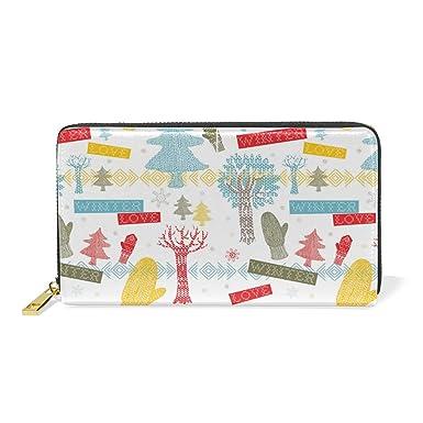 Amazon.com: Navidad Solorful Ornaments Real Cuero Cremallera ...
