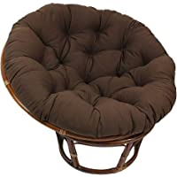 Brown Round Papasan Cushion, Thicken Cotton Soft Hanging Egg Hammock Chair Pads for Indoor Outdoor(Not Included Chair…