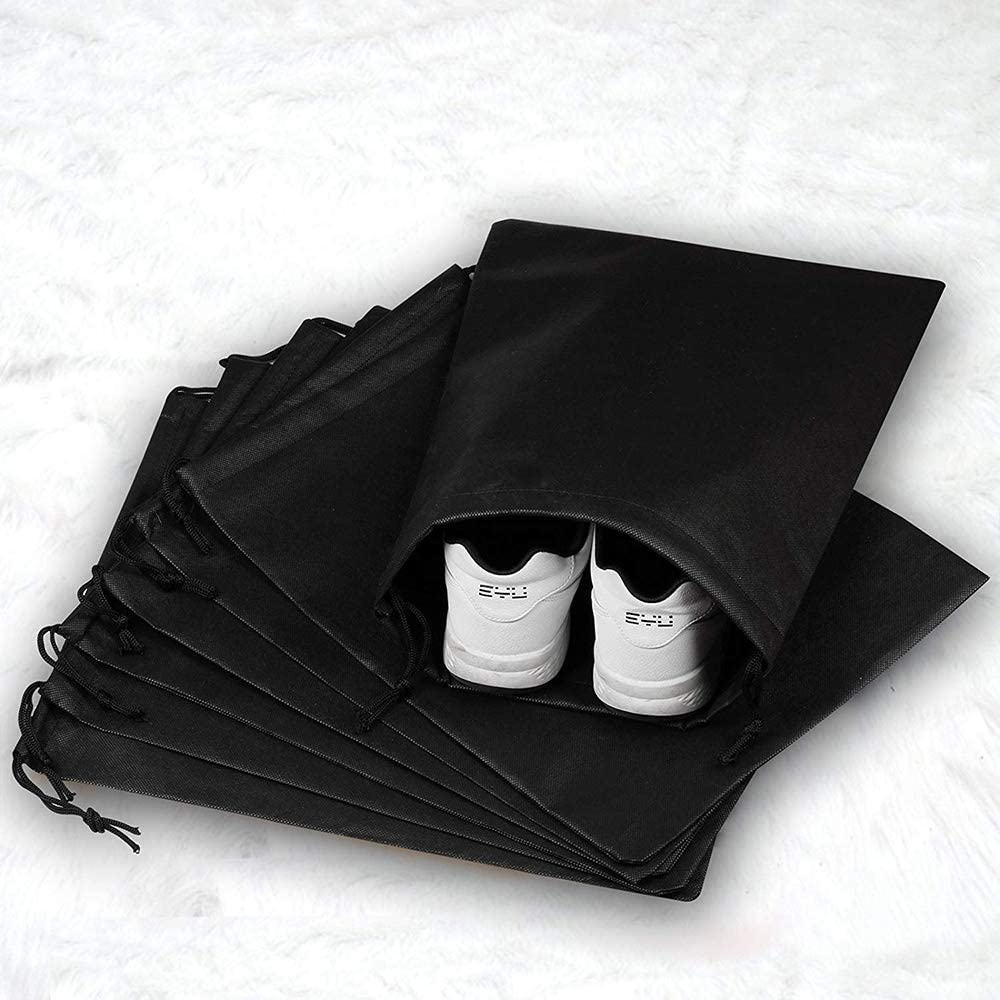 inherited 10pcs Sacs /à chaussures de voyage,organisateur de chaussures de voyage sacs de rangement,noir imperm/éable anti-poussi/ère rangement portable bags pour voyage sport-noir