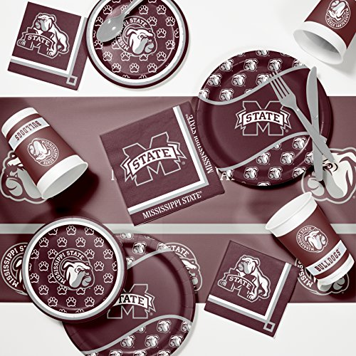 NCAA Mississippi State University Game Day Party Supplies Kit