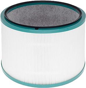 Filtro de repuesto HEPA verdadero de 360°, compatible con purificadores Dyson Pure Hot+Cool Link HP00, HP01, HP02, HP03, DP01, DP03, DP03, DP03 y Pure Cool Link escritorio, parte n.º 968125-03.