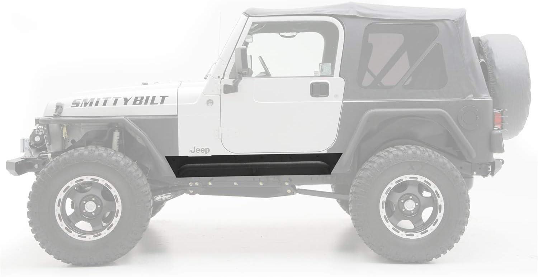 Smittybilt 76865 XRC Armor Rock Sliders With Step For 1976-1987 Jeep CJ-7