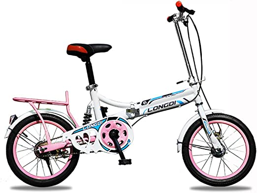 XQ- Niño Pliegue Bicicleta 16/20 Pulgadas Adultos Ultra-Ligero ...