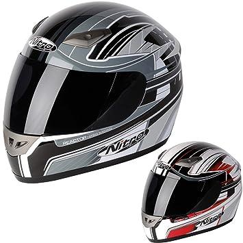 Nitro Reactor Luxe Full Face casco de moto scooter motocicleta bicicleta Crash