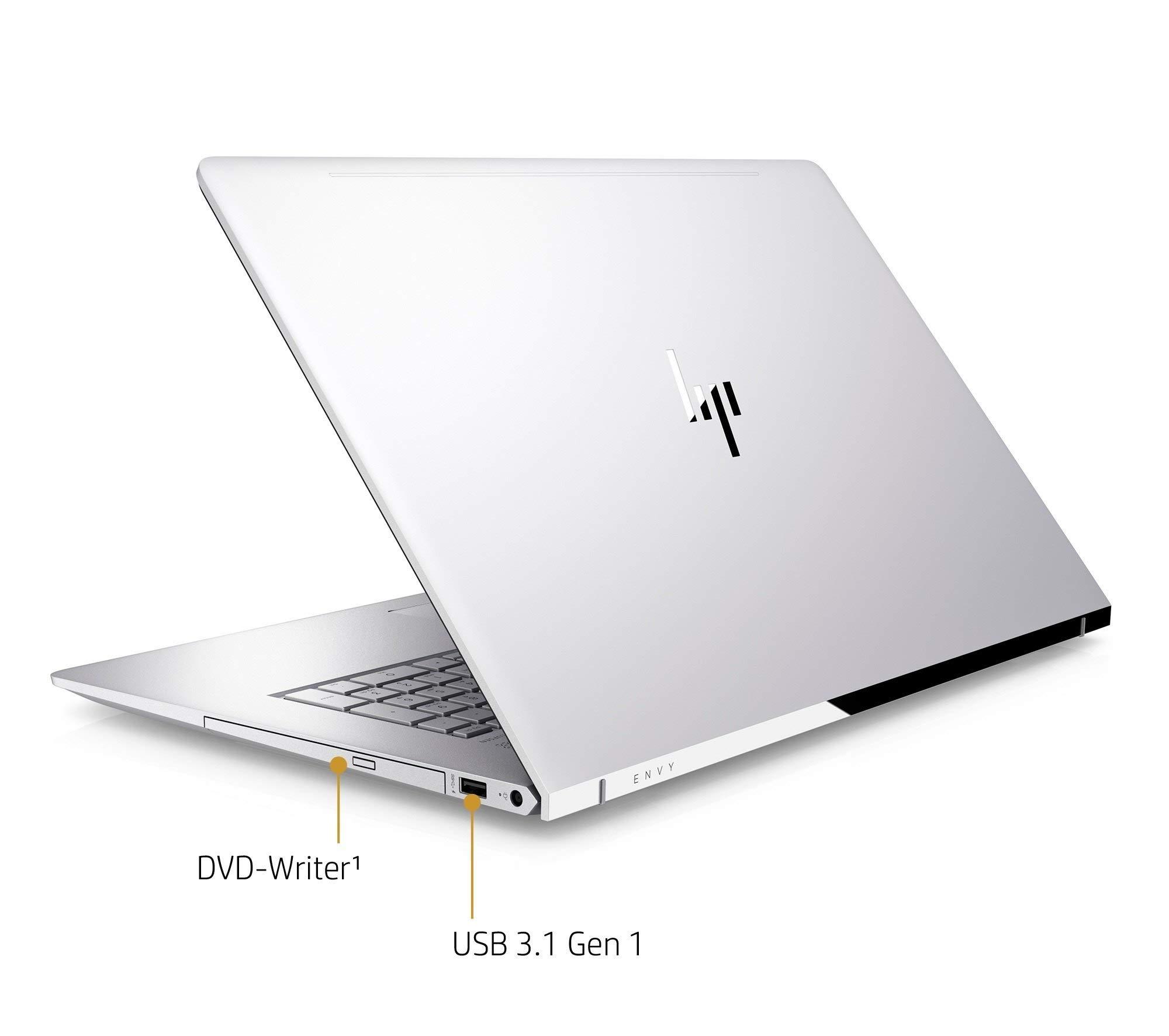 HP Envy 17~ae111dx Laptop 17.3in Edge-to-Edge IPS TouchScreen Full HD (1920x1080), 8th Gen Quad-Core i7-8550U, 16GB DDR4, 1TB HDD, NVIDIA MX150, IR Camera, Backlit, Windows 10 (Renewed )
