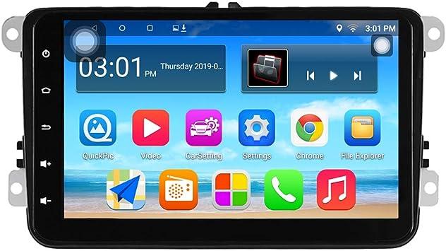 Panlelo S8 Plus Autoradio Am FM RDS para VW Seat Skoda Jetta Passat Golf Polo con Android 9.0 2GB RAM 32GB ROM Navegación GPS 8 Pulgadas 1024 * 600 ...