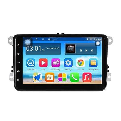 Radio de Coche Panlelo S8 Plus Am FM RDS para VW Seat Skoda Jetta Passat Golf Polo con Android 8.0 2GB RAM 32GB ROM Navegación GPS 8 Pulgadas 1024 * ...