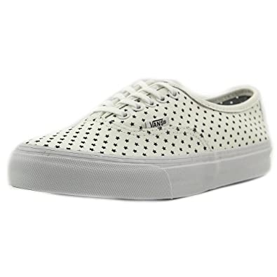 847435eb101e Vans Authentic Slim Sneakers (Perf Stars) True White Womens 5