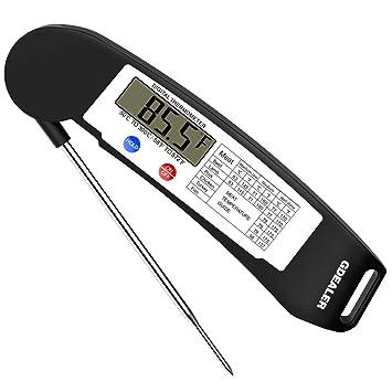 Gdealer Super rápida lectura instantánea termómetro Digital electrónico termómetro de cocina termómetro de cocina barbacoa carne