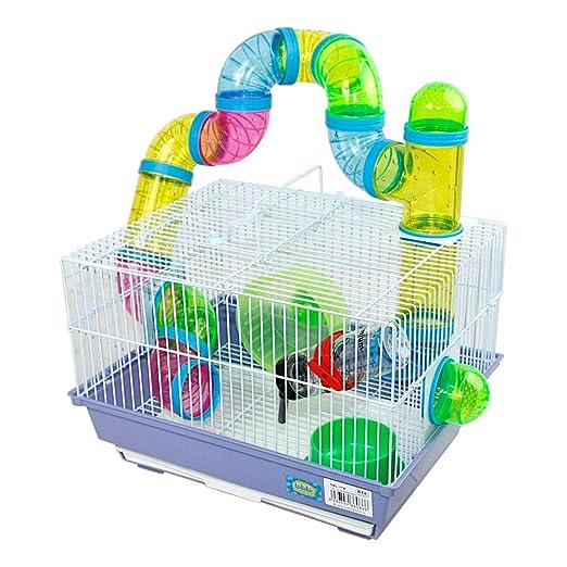 Jaula para hamster 34.5*28*24cm con tubos colores: Amazon.es: Jardín