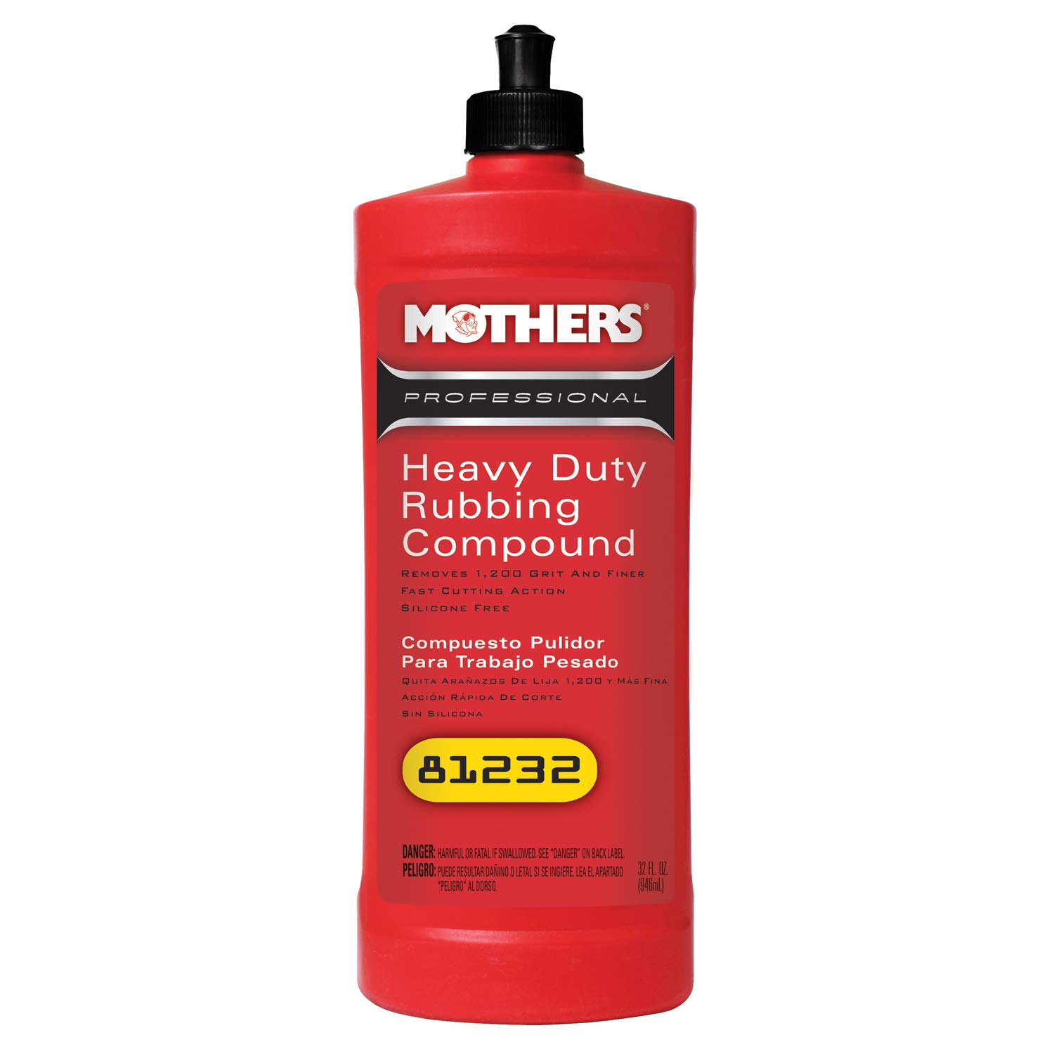 Mothers 81232-6 Professional Heavy Duty Rubbing Compound - 32 oz., (Pack of 6)
