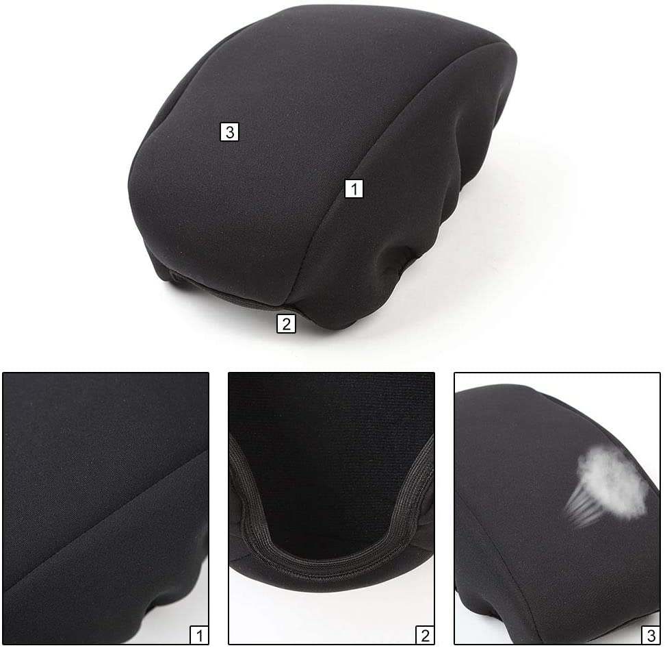 Interior Accessories CheroCar Center Consoel Cover Armrest Pad for Jeep Renegade 2015-2019