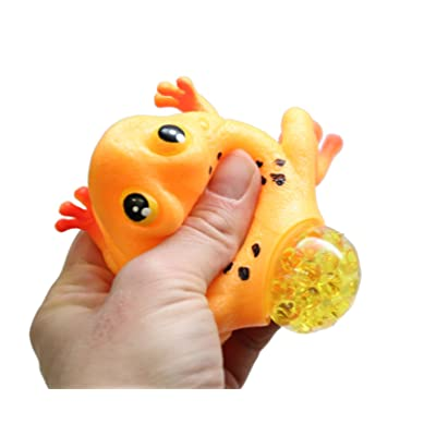 Curious Minds Busy Bags 1 Frog with Eggs Squeeze Stress Ball - Sensory, Stress, Fidget Toy - Squishy Toy: Toys & Games